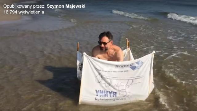Szymon Majewski na wakacjach w powiecie puckim 2018