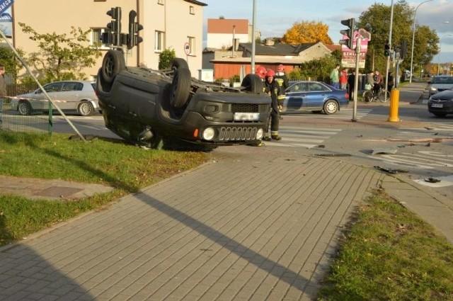 Zderzenie dwóch aut w Wejherowie- 26.10.2016