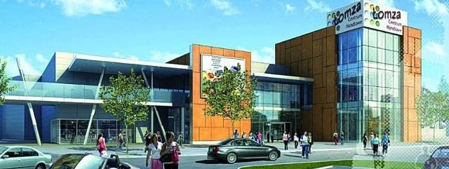 """W 2011 r. nastąpi rewolucja w łomżyńskim handlu. Irlandzka Grupa Inwestycyjna za tydzień odbierze pozwolenie na budowę galerii """"Narew"""" (na ilustracji). """"Veneda"""" wciąż czeka na ostatnie decyzje."""