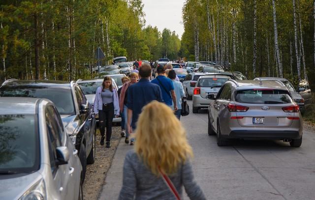 Tłumy turystów na Pustyni Błędowskiej
