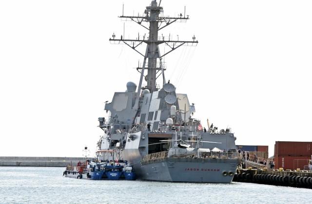 """Amerykański niszczyciel USS """"Jason Dunham"""" w Porcie Wojennym w Gdyni"""