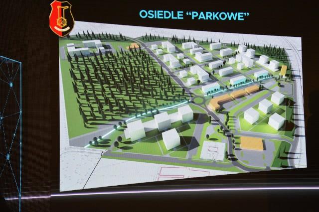 Wizualizacja mającego powstać Osiedla Parkowego na 1250 mieszkań na osiedlu przy parku po księciu Lubomirskim