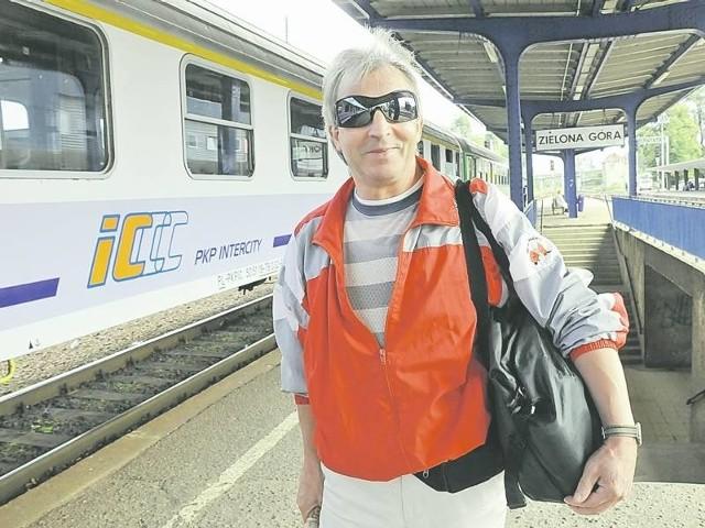 Pan Andrzej Nagórski dużo podróżuje po Polsce. - Już dziś jest trudno, wiele pociągów jest opóźnionych godzinę a nawet więcej. Aż strach pomyśleć, co się teraz będzie działo.