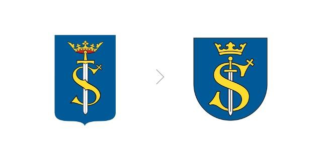 Z lewej herb z 1996 r. i ustanowiony w tym roku