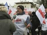 Związkowcy i pracownicy z Urzędu Morskiego w Słupsku pikietowali w sobotę w trakcie Konwentu Morskiego [zdjęcia]