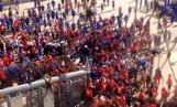 Pseudokibice Ruchu Chorzów wdarli się na stadion w Białymstoku przed meczem Jagiellonia - Ruch. Sąd Okręgowy w Białymstoku wydał wyrok WIDEO
