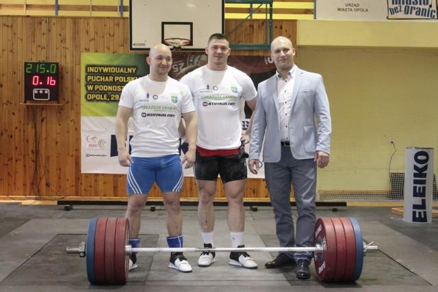 Od lewej Krzysztof Zwarycz, Arkadiusz Michalski i były świetny zawodnik Bartłomiej Bonk.