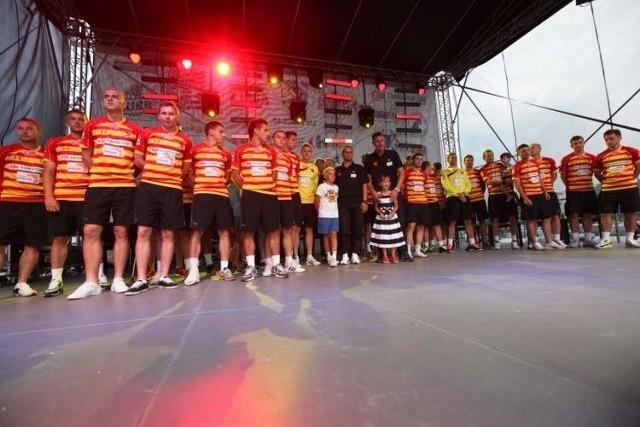 Prezentacja drużyny Jagiellonii podczas imprezy.