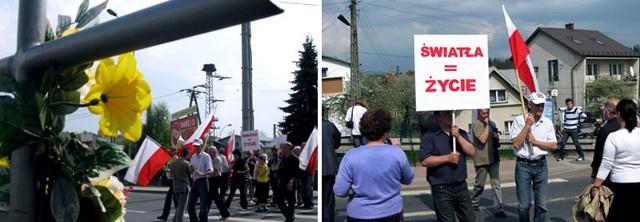 Mieszkańcy Zagórza zorganizowali pikietę, bo ich żądań w sprawie sygnalizacji nikt nie słucha, a na drodze giną ludzie.