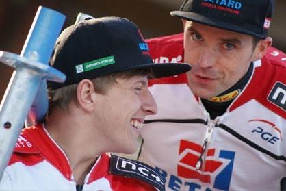 Andrzej Lebiediew (z lewej) w pierwszej rundzie SEC w Toruniu zajął trzecie miejsce.