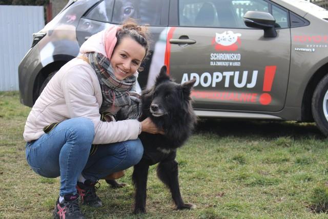 Saba (12 lat) w weekend znalazła nowy dom. Sunię wspierali m.in.: Krystyna Strasz libero łódzkich siatkarek ŁKS i Rafał Królikowski, aktor.
