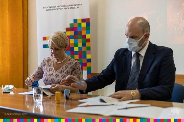 Podpisanie umowy na nowe inwestycje w szpitalu w Sokółce.