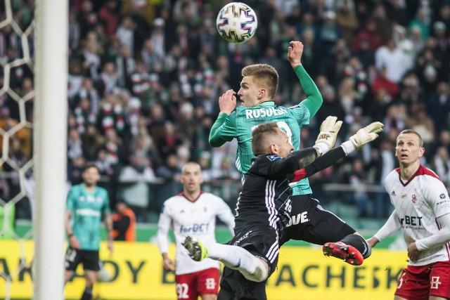 Fragment meczu Legia  - ŁKS, który rozegrano w lutym tego roku