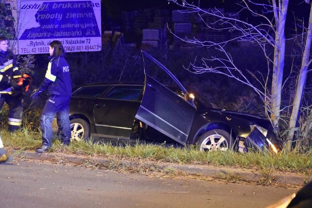 Wypadek na ulicy Prostej w Rybniku