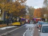 Pożar autobusu w Katowicach w dzielnicy Ligota. Jechało nim dziewięć osób. Nikt nie został ranny