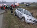 Kończewice. Zderzenie dwóch samochodów na drodze krajowej nr 22