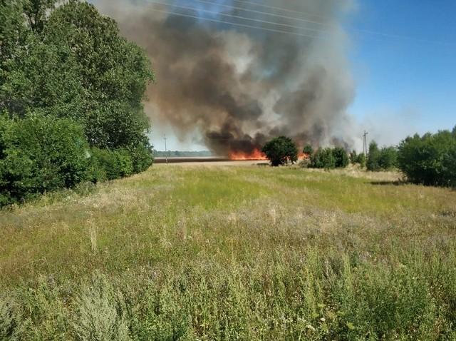 Pożary w powiecie białogardzkim