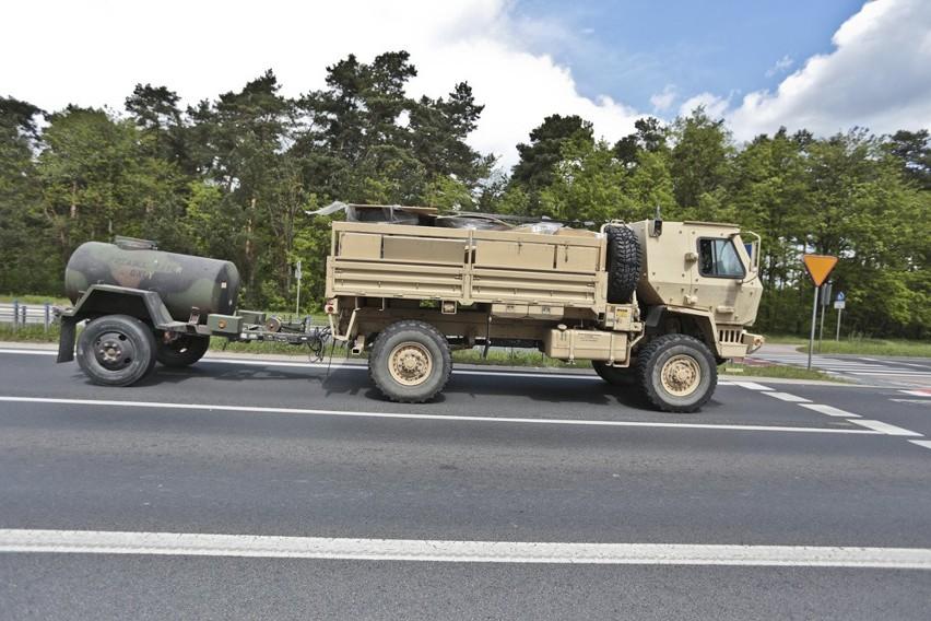 Przejazd amerykańskiego wojska przez Zieloną Górę.