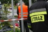Wypadek dwóch ciężarówek w Marcinowicach. Droga Świdnica-Wrocław zablokowana