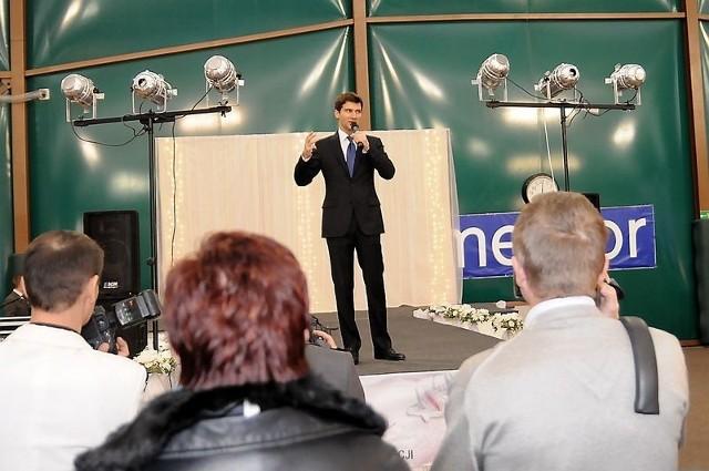 Galę ślubną w Toruniu prowadził Tomasz Kammel (fot. Lech Kamiński)