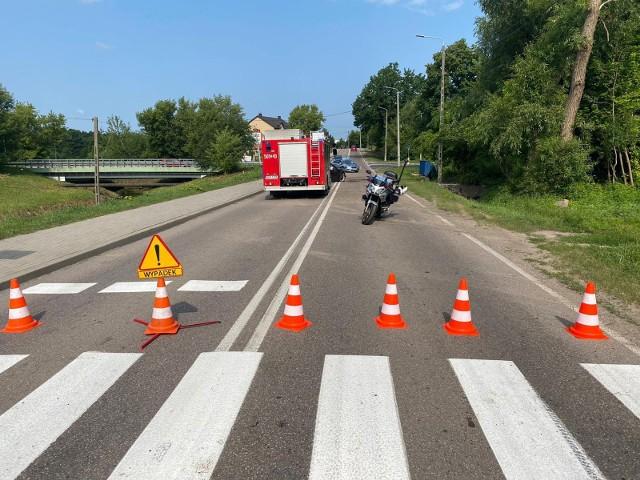 Zambrów. Wypadek na Łomżyńskiej. Kierowca zabrany przez śmigłowiec LPR