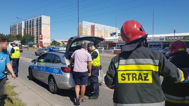 Wypadek na Rokicińskiej w Łodzi