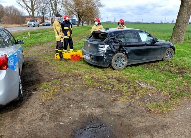 Wypadek w Kobierzycach 13.04.2021