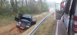Barszczewo. BMW wypadło z drogi. Jedna osoba w szpitalu