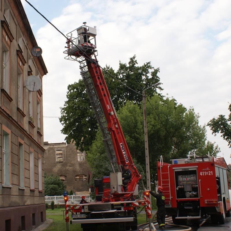 Pożar został szybko ugaszony przez strażaków.