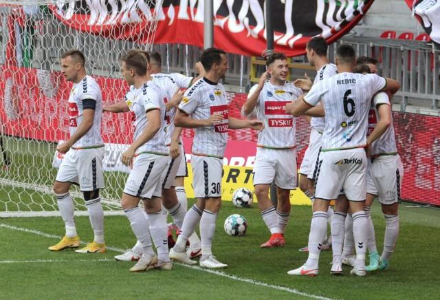 GKS Tychy rozpoczął mecz barażowy z Górnikiem Łęczna od bramki.,