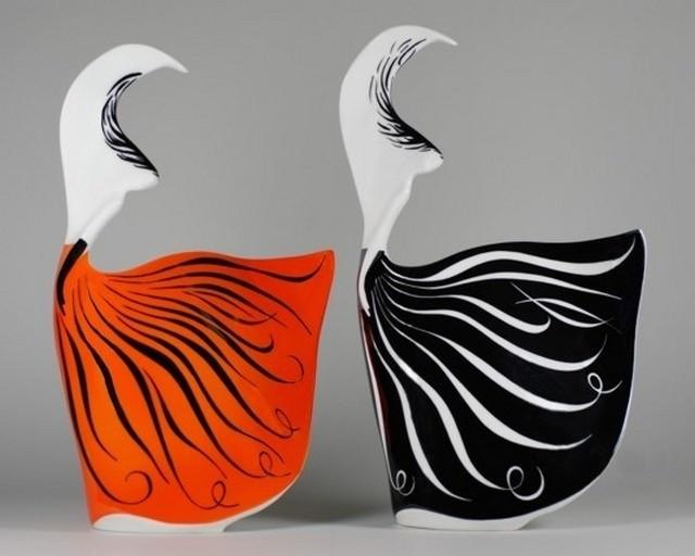 Wśród wyróżnionych figurek znalazła się postać baletnicy, wzór z roku 2005 projektu Lubomira Tomaszewskiego. Fot. Fabryka Porcelany AS Ćmielów