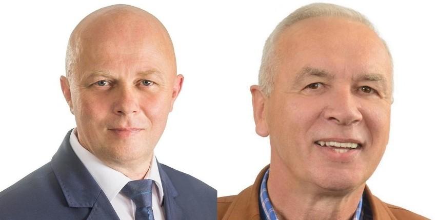 Z lewej radny Leszek Szymczak, z prawej burmistrz Ryszard Sylka