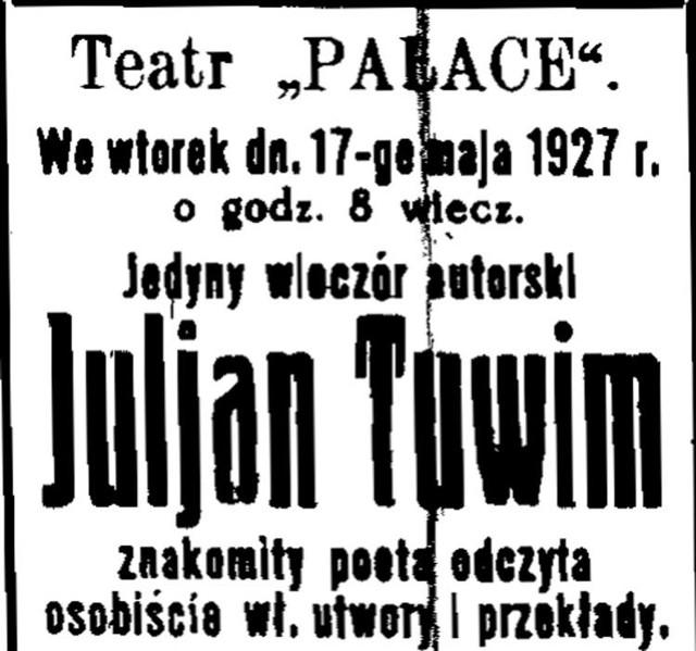Julian Tuwim źle Wspominał Białystok Kurier Poranny