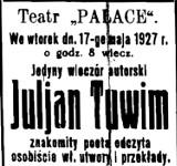 Julian Tuwim źle wspominał Białystok