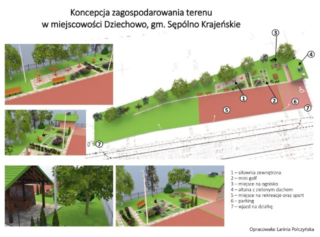 Gmina Sępólno otrzymała dofinansowanie unijne na zagospodarowanie terenu w Dziechowie na miejsce rekreacji