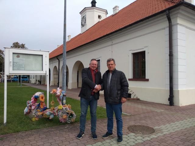 Bartłomiej Sienkiewicz i Józef Bryk w Staszowie