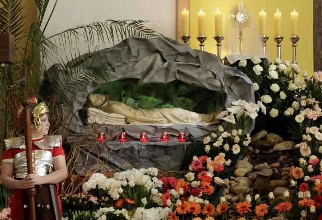 Grób w parafii Chrystusa Króla w Gdyni Małym Kacku