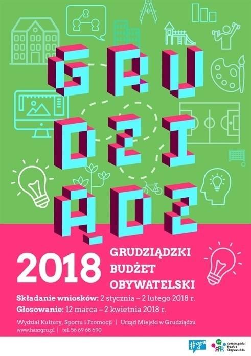 W ramach V edycji Grudziądzkiego Budżetu Obywatelskiego są do rozdysponowania 3 mln. zł.