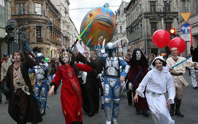 Łódzkich fanów sagi można zobaczyć m.in. podczas zabaw, odbywających się na ulicy Piotrkowskiej