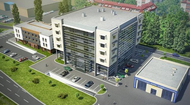 Biurowiec i hotel powstają przy ul. Jana Pawła II