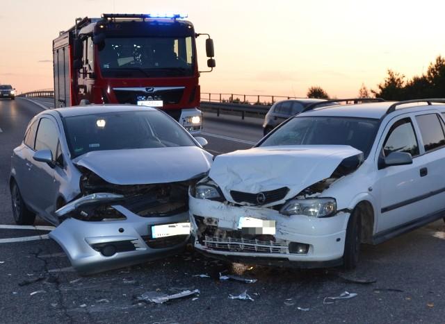 Wypadek przy węźle z drogą S8