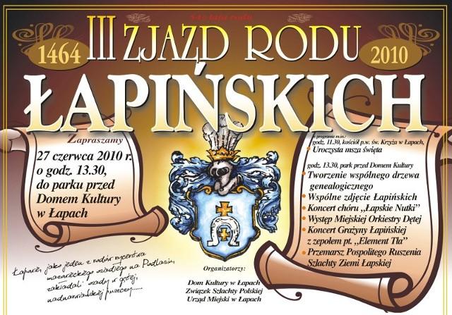 Zjazd Łapińskich już 27 czerwca