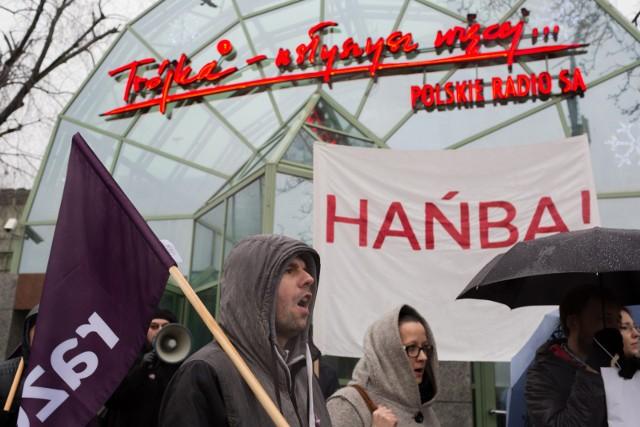 Grudzień 2016 r. - protest przed siedzibą Trójki