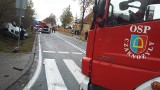 Uwaga kierowcy. Z powodu wypadku zablokowana jest droga z Wielunia do Złoczewa