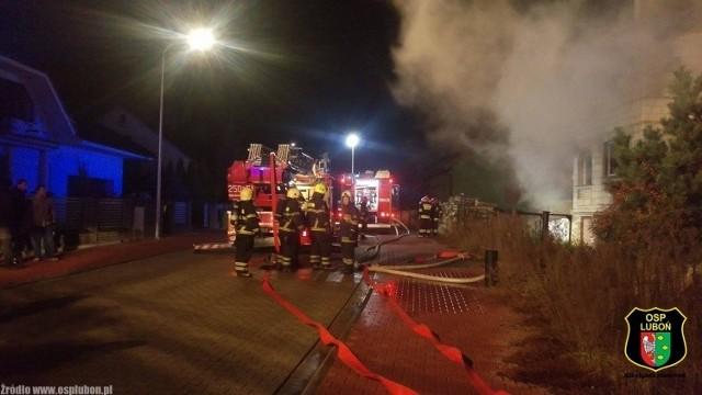 Pożar w Komornikach. Znaleziono zwłoki