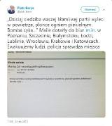Alarmy bombowe w biurach PO w całej Polsce: Płońcie ogniem piekielnym. Bomba cyka - napisał anonimowy sprawca. Jest reakcja policji