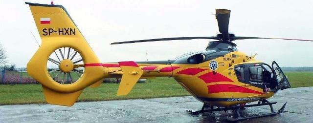 Nowy helikopter pogotowia wylądował wczoraj na białostockich Krywlanach