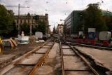 Na Krupniczej kładą wyciszone tory, by tramwaje nie przeszkadzały widzom Forum Muzyki (ZDJĘCIA)