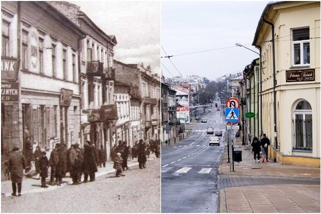 Ulica Lubartowska w latach 1920-1925 i obecnie
