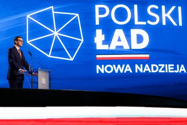 Premier Mateusz Morawiecki podczas konwencji PiS